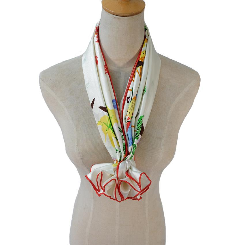 Elegant Natural Silk Neckscarf-1