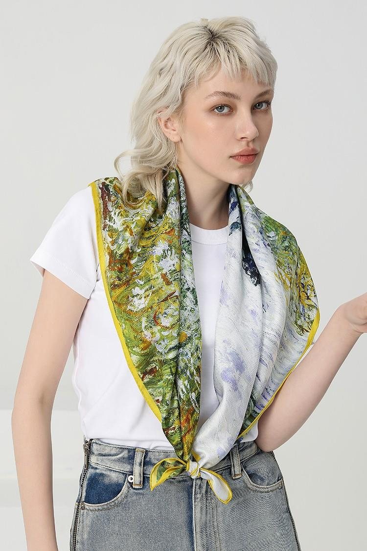 Oil Painting Square Bandana Neckchief
