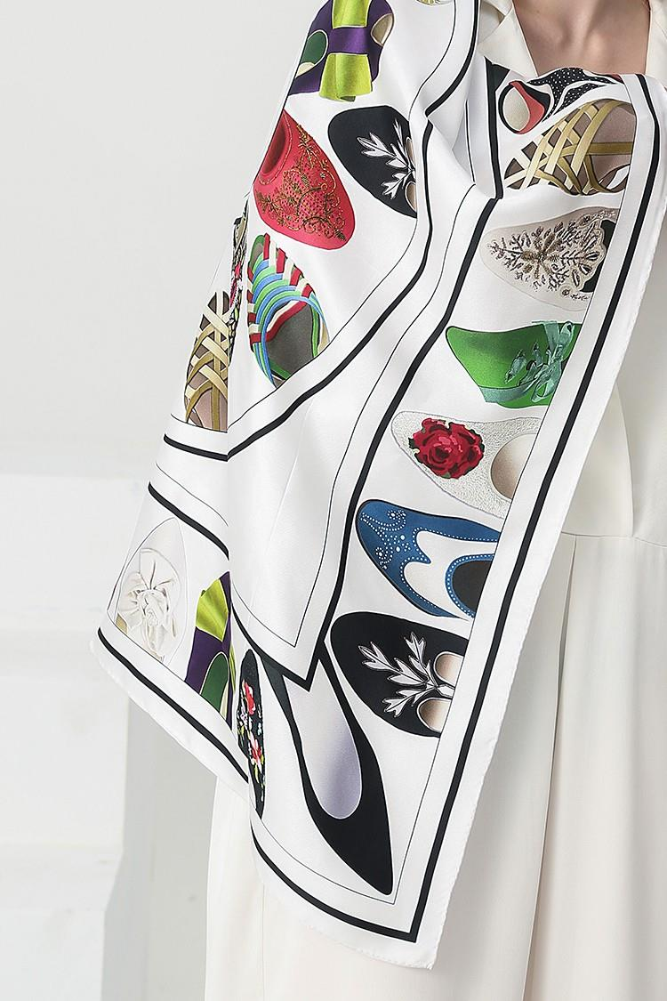 Buy Large Digital Print Silk Scarf-3