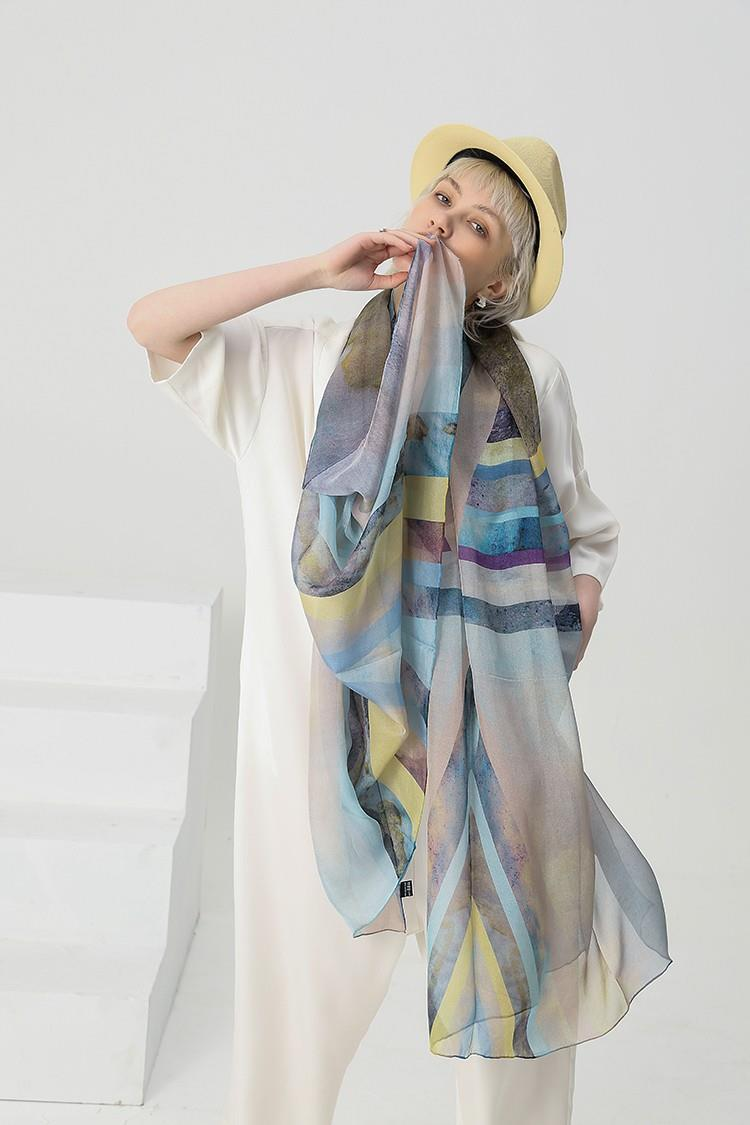 Silk Neck Scarves Wholesale-1