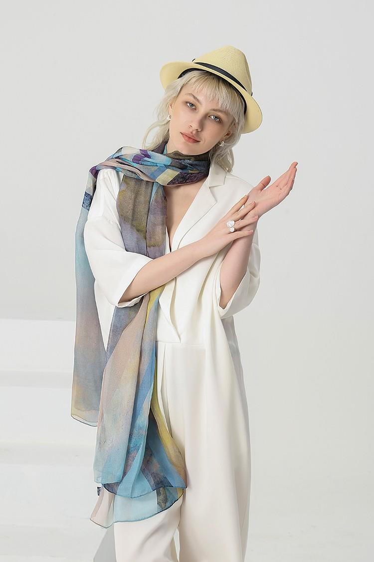 Silk Neck Scarves Wholesale-2