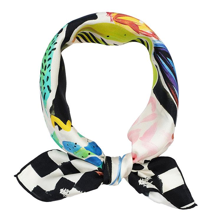 Square Neck Scarf with Logo-6