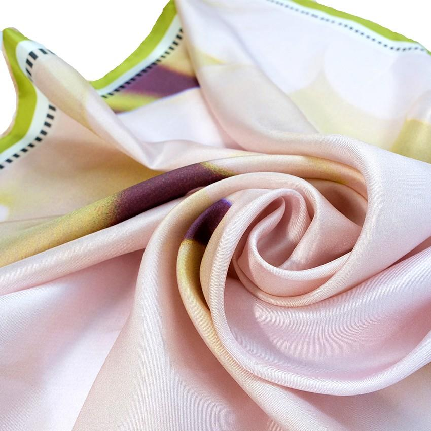 Pink Shiny Silk Satin Scarves-3