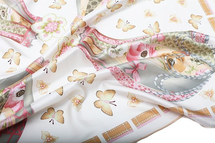 Butterfly Small Square Silk Scarves-4