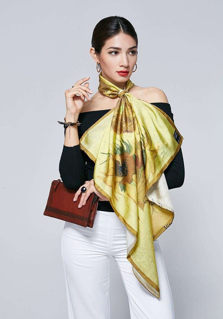 Hangzhou Custom Digital Printing Silk Scarf-2