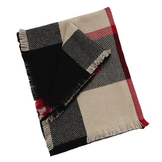 Checked Blanket Cashmere Scarves-1