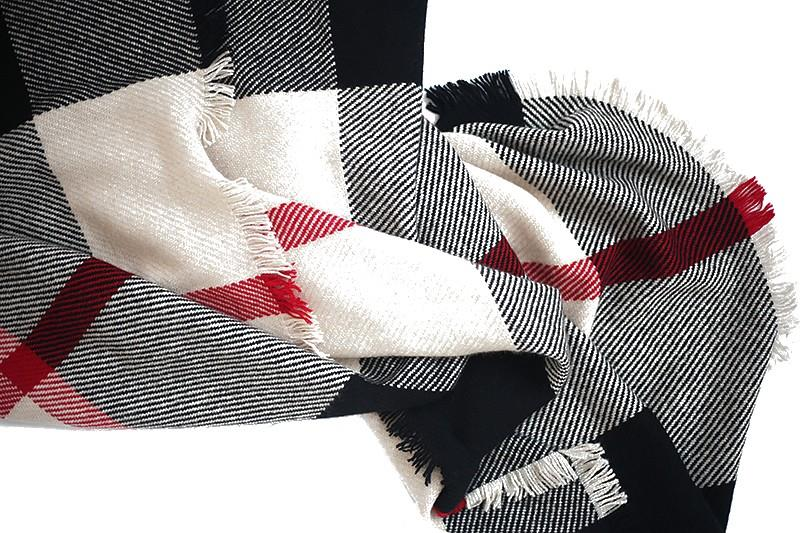 Checked Blanket Cashmere Scarves-3