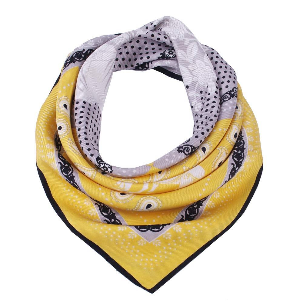 Yellow Silk Head Scarf-2