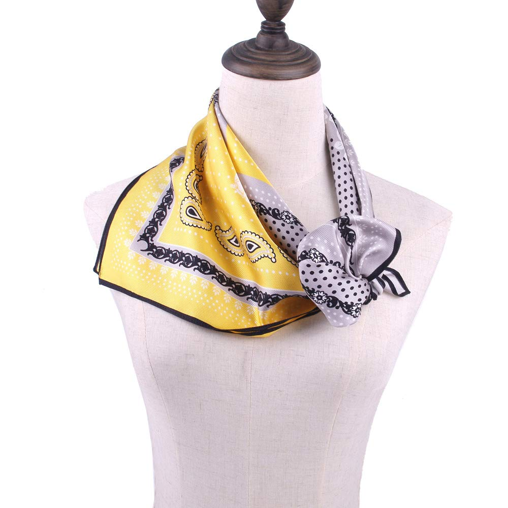 Yellow Silk Head Scarf-3