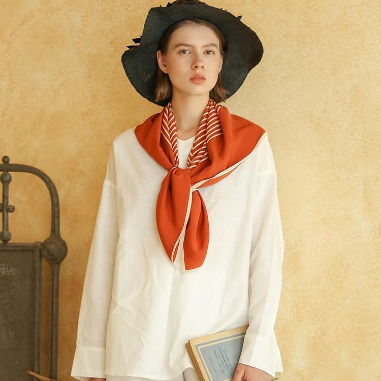 Multifunctional Silk Crepe De Chine Scarf
