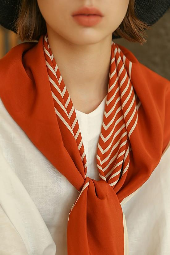 Multifunctional Silk Crepe De Chine Scarf-3