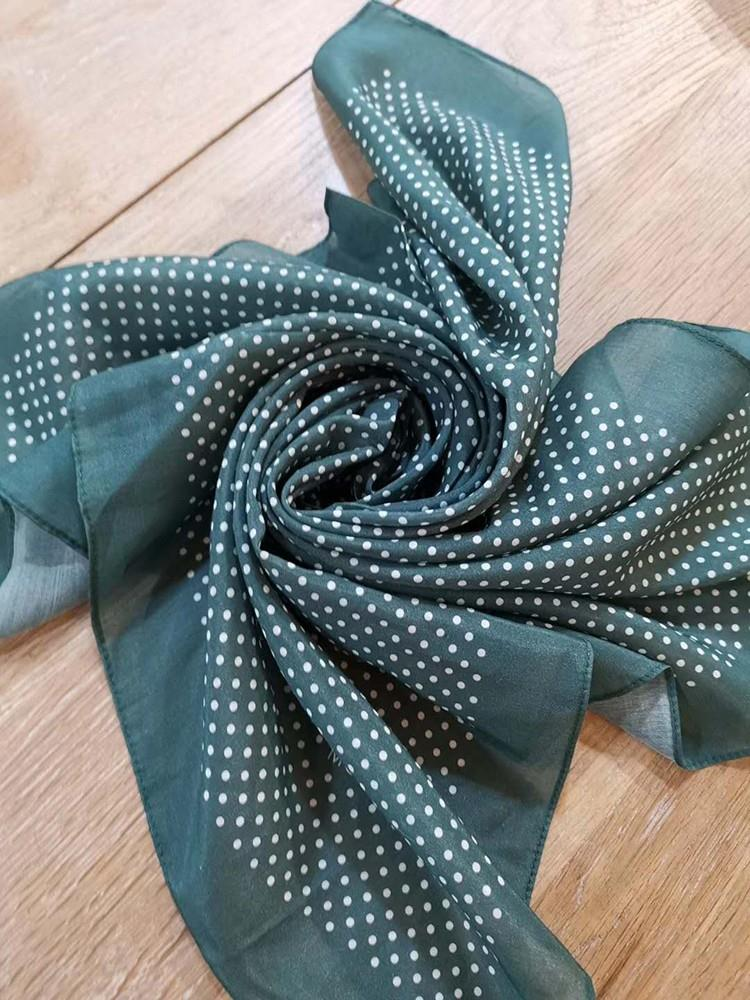 silk cotton square scarf