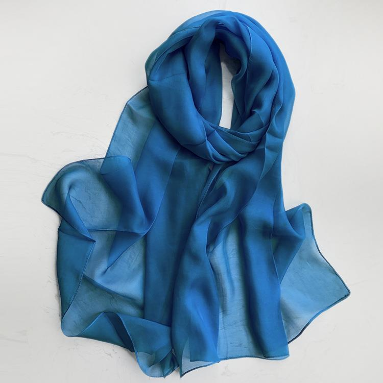Long White Silk Scarf-1