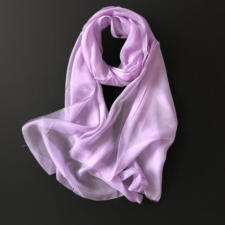 Long White Silk Scarf-3