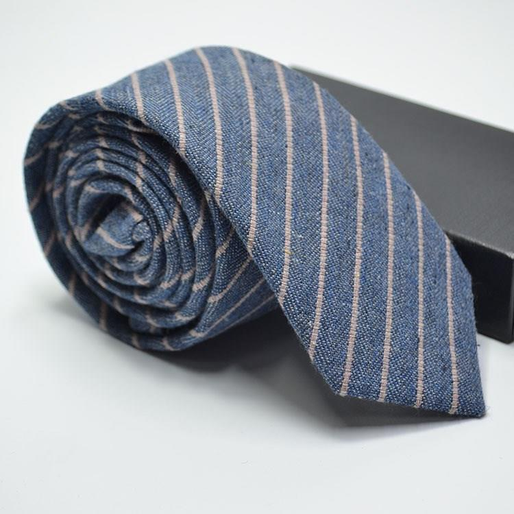 Narrow Wool Like Men Tie-1