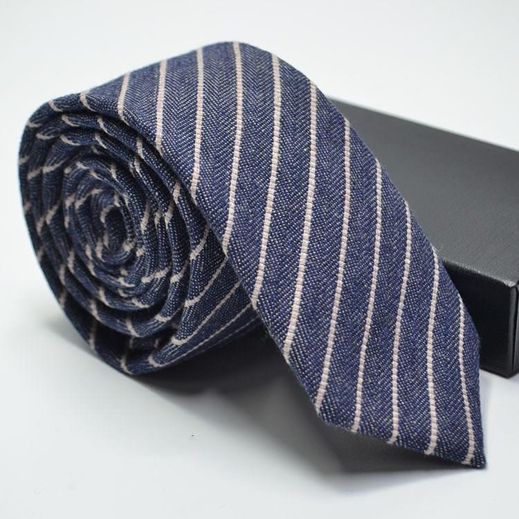 Narrow Wool Like Men Tie-2