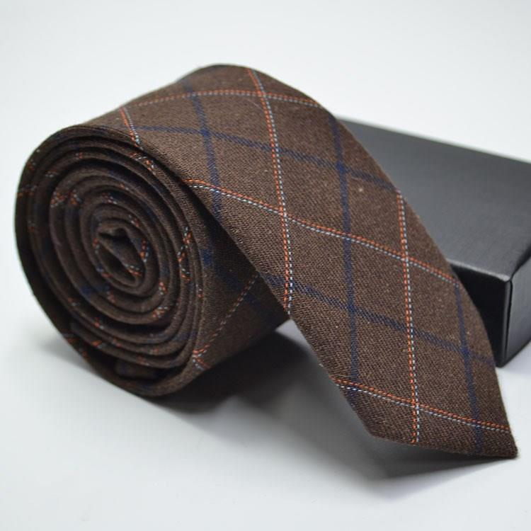 Narrow Wool Like Men Tie-5