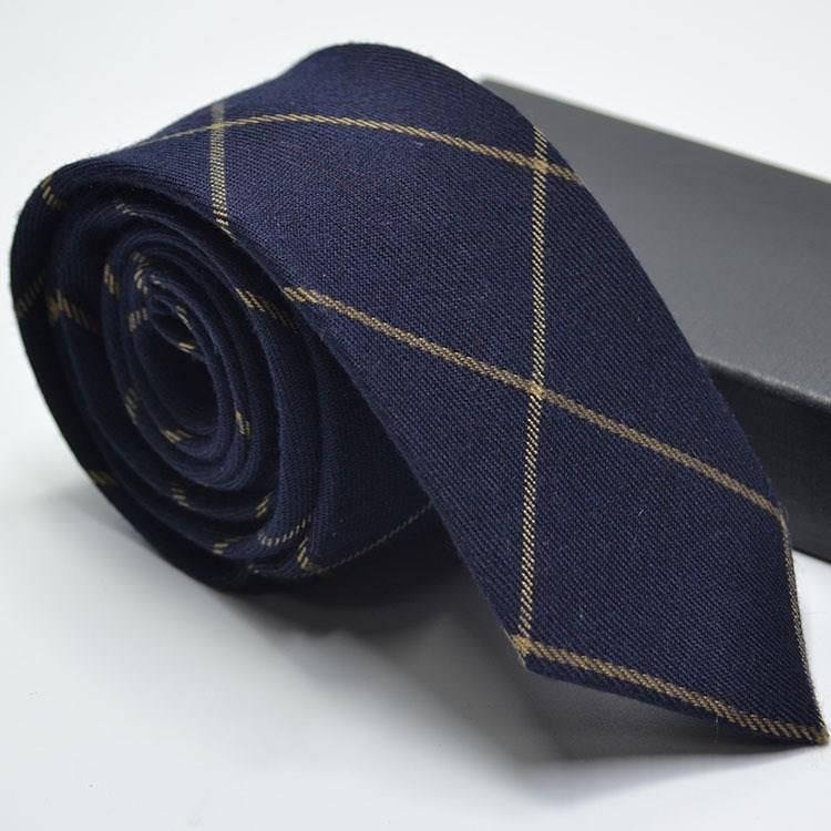 Narrow Wool Like Men Tie-6