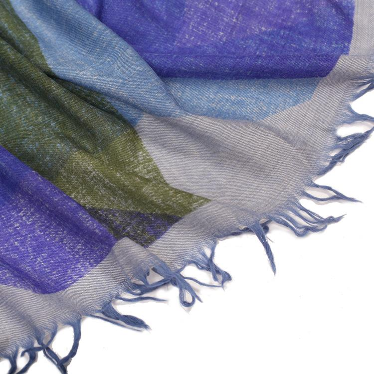 Oversized Two Tones Blanket Scarf-4