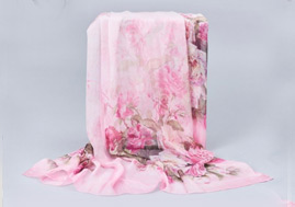 Natural Silk Chiffon Scarf Wholesale Custom Chinese Factory Silk Scarves