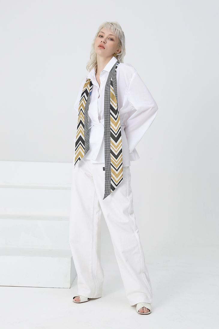 Double Sides Long Silk Skinny Scarves