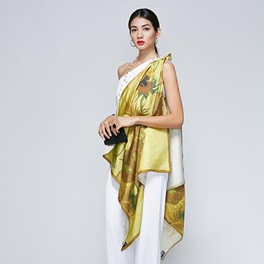 Hangzhou Custom Digital Printing Silk Scarf