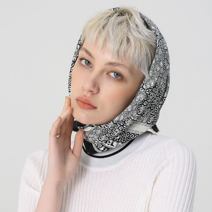Designer Silk Head Scarf
