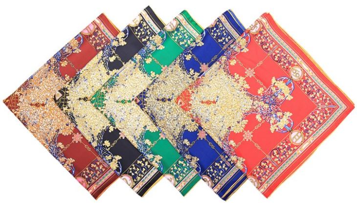 Large Pure Silk Scarf Square