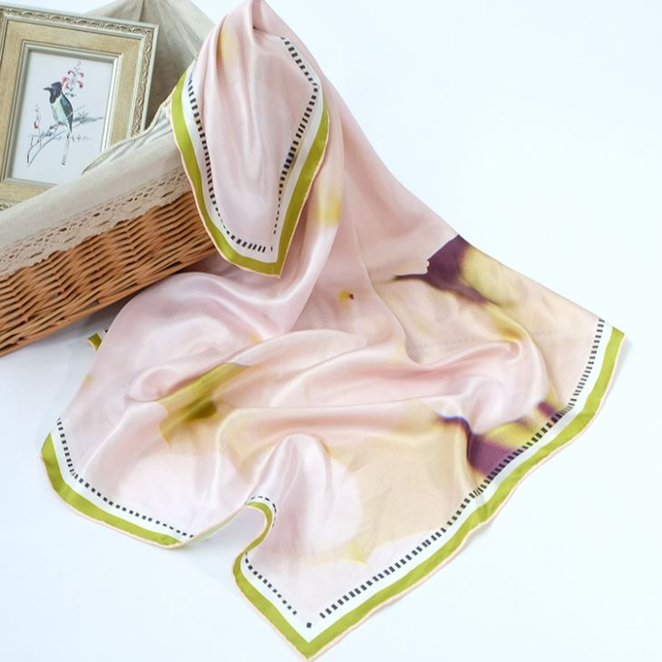 Pink Shiny Silk Satin Scarves