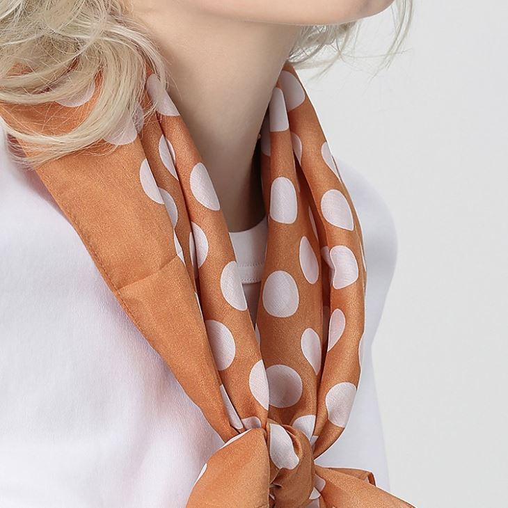 Silk Cotton Handkerchief Scarf