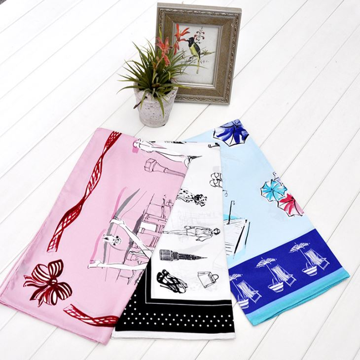 Low MOQ Silk Scarves