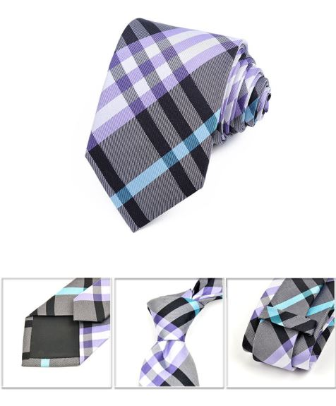 Checked Jacquard Silk Tie