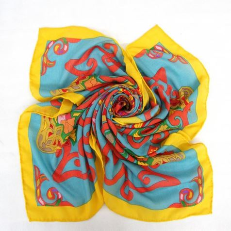 Printed Hand Rolled Wool Scarf