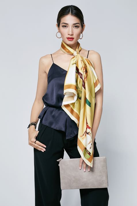 Double Face Horses Silk Twill Scarves