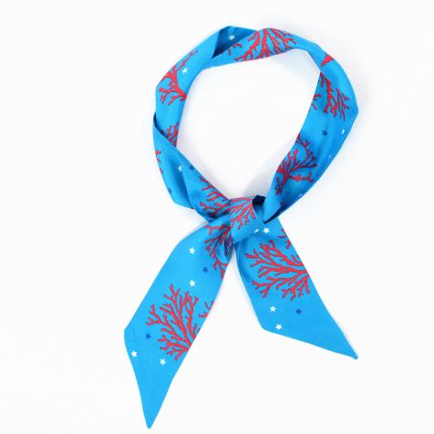 Narrow Ribbon Neckerchief Skinny Scarf