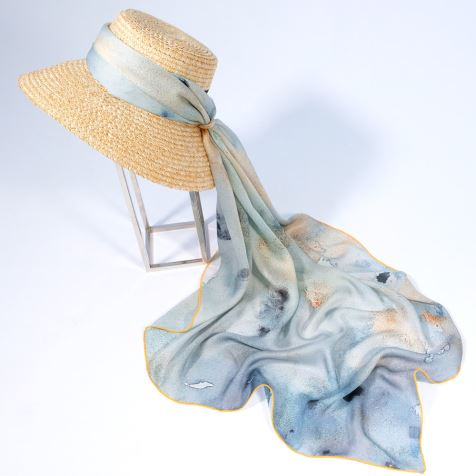 Handmade Foulard Silk Scarves Ladies