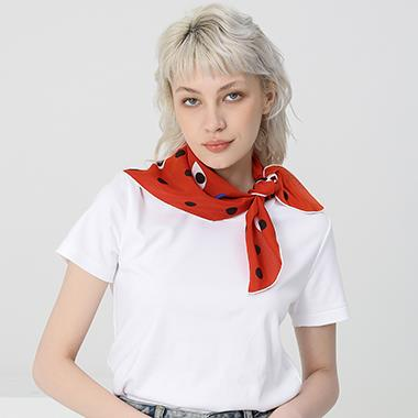 Red Eyes Hand Rolled Silk Scarves