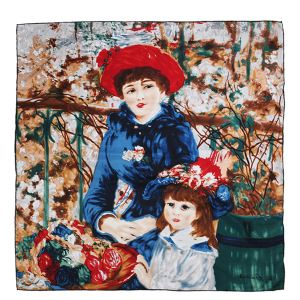 Oil Painting Printed Silk Scarf