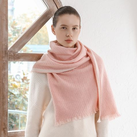 Pink Natural Cashmere Scarf