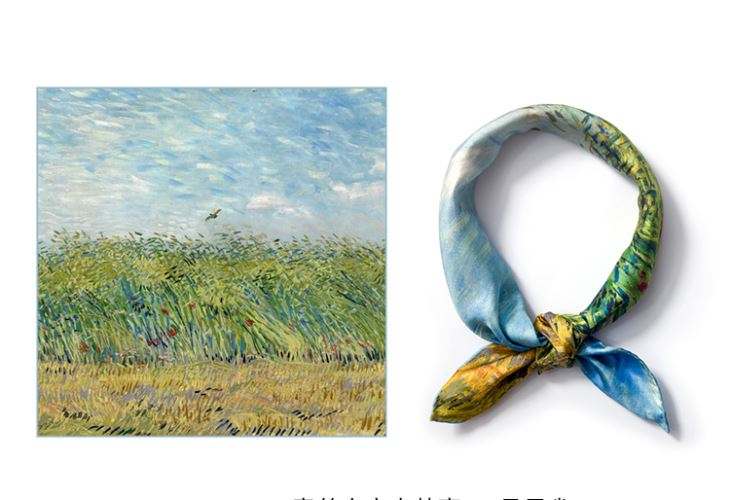 Square Silk Scarf For Oil Painting