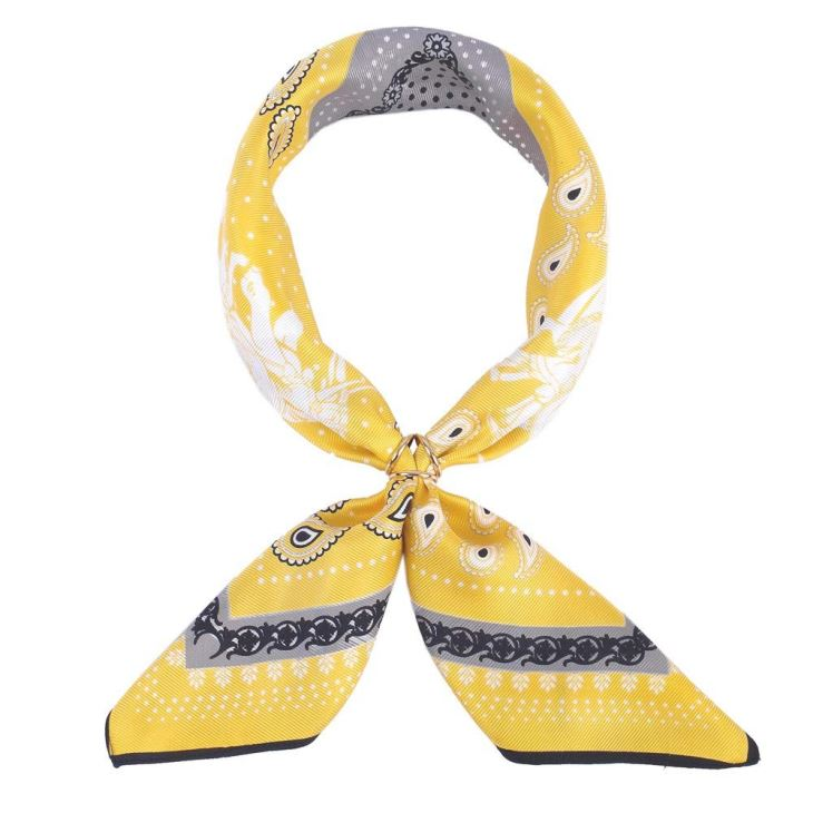 Yellow Silk Head Scarf