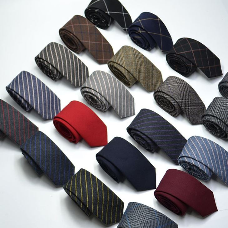 Narrow Wool Like Men Tie