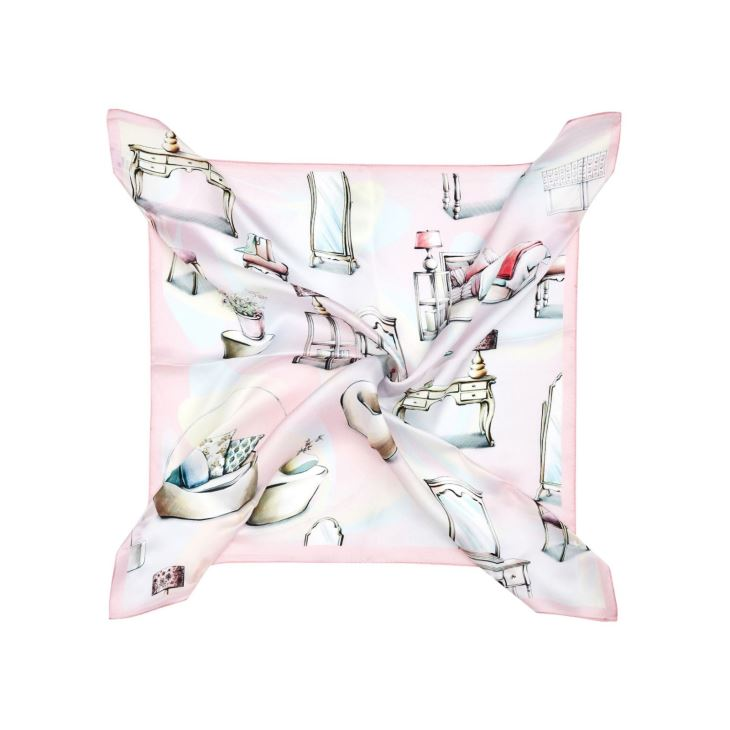 Personalized Watch Silk Scarf