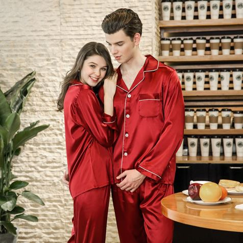 Couple Silk Pajama