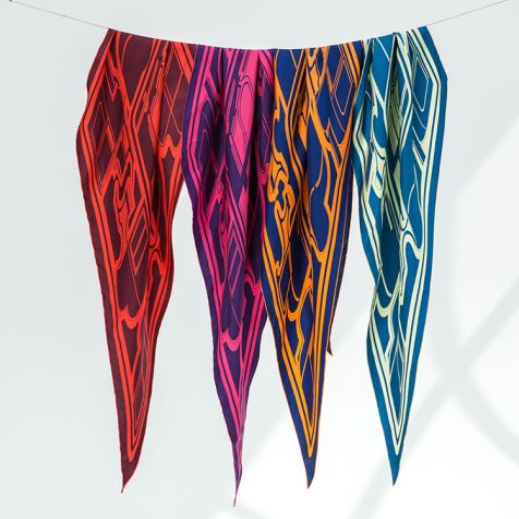 Diamond Shaped Silk Scarves