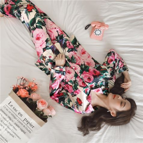 Digital Printing Silk Pajamas