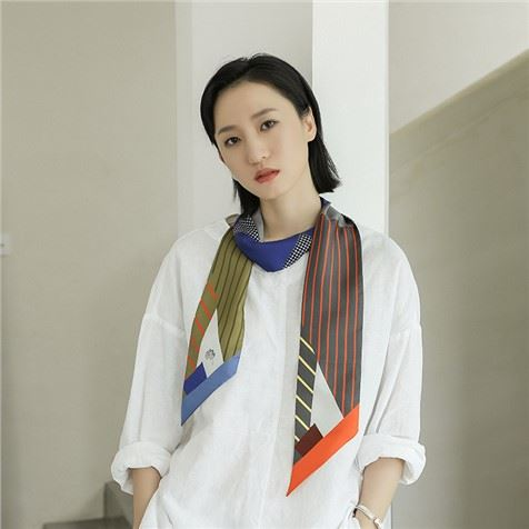 Thin Silk Scarves with Double Layers
